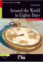 Black Cat Reading and Training Step 2 Around the World in Eighty Days Book with Audio CD/CD-ROM