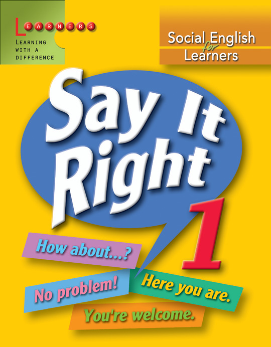 Social English Learners : Say it Right