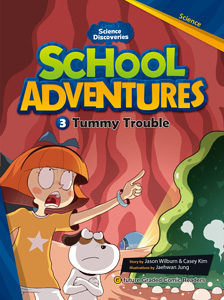 School Adventures Graded Comic Readers 3-3 : Tummy Trouble (with CD)