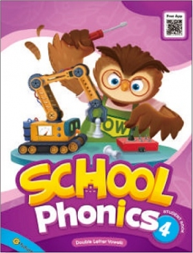 School Phonics 4 Student Book (with Readers, Flashcards, Stickers, Hybrid CD)