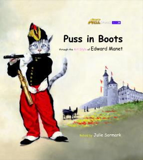 Art Classic Stories Level 3 Puss in Boots with CD, illustrated in the style of Edward Manet (Book No. 29)