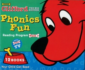 Clifford Phonics Fun Pack 1 (12 Books + CD + Japanese Guide)
