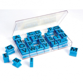 Alphabet Rubber Stamps - Uppercase