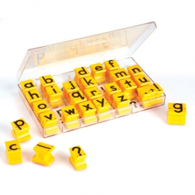 Alphabet Rubber Stamps - Lowercase