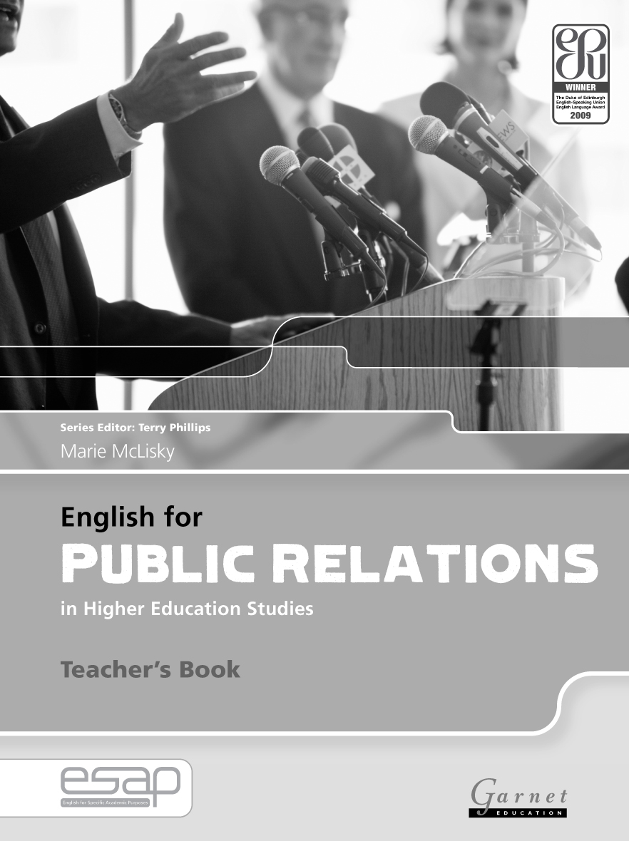 English for Specific Academic Purposes: English for Public Relations Teacher\'s Book
