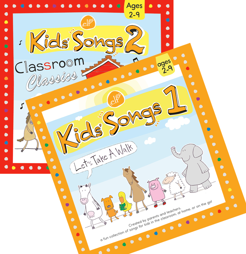 Kid's Songs CD1 and CD2 Set