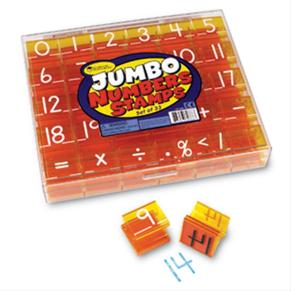 Jumbo Numbers & Operations Stamp Set ジャンボスタンプセット 数字&記号