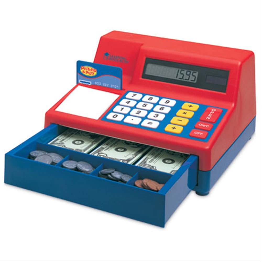 Pretend & Play® Calculator Cash Register  電卓式レジ 米ドル付き