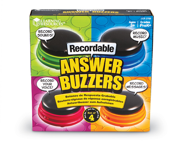 Recordable Answer Buzzers (Set of 4)  録音可能 アンサーブザー