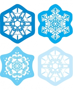 Shape Stickers: Snowflakes