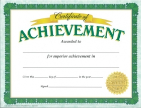 Classic Certificates: Certificate of Achievement