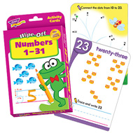 Wipe-Off Activity Cards: Numbers 1-31