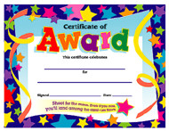 Colorful Classics Certificates: Certificate of Award