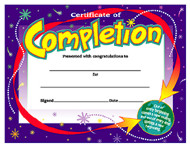 Colorful Classics Certificates: Certificate of Completion