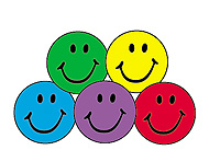 SuperSpots Stickers: Colorful Smiles