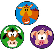 SuperSpots Stickers: Farm Friends