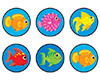 SuperSpots Stickers: Fun Fish