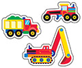 superShapes Stickers Large : Construction Vehicles
