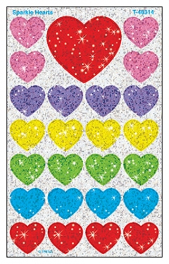 SuperShapes Stickers: Sparkle Hearts