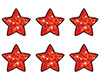 SuperShapes Stickers:  Red Sparkle Stars