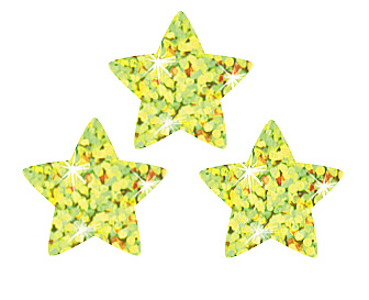 SuperShapes Stickers: Gold Sparkle Stars