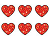 SuperShapes Stickers: Red Sparkle Hearts