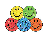 SuperSpots Stickers: Colorful Sparkle Smiles
