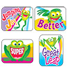 Applause Stickers: Friendly Frogs