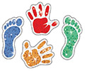 Sparkle Stickers: Hand and Foot Prints