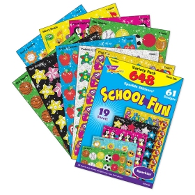 Sparkle Stickers: Variety Pack School Fun