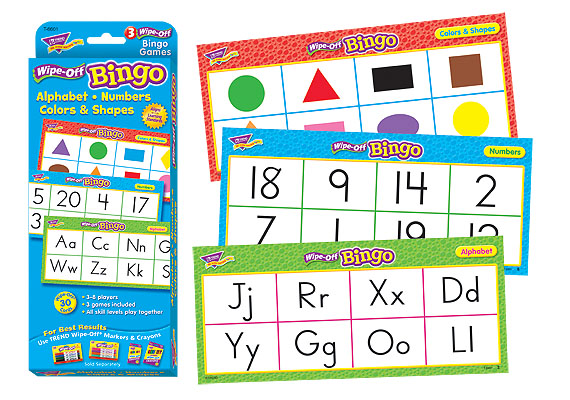 Trend Bingo Games: Alphabet, Numbers, Colors & Shapes