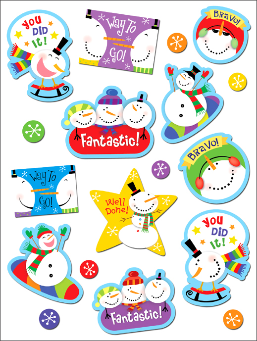 Snowmen Stickers (CTP 4115)