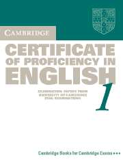 Cambridge Certificate of Proficiency in English
