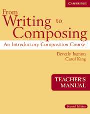 From Writing to Composing Teacher's Manual