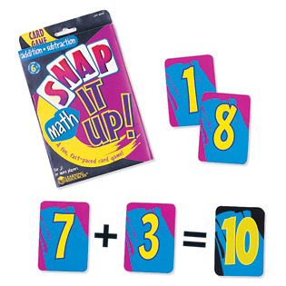 Snap It Up!® Addition & Subtraction Card Game  算数ゲーム 計算カードゲーム(足し算&引き算)