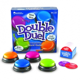 Double Duel Sound-Alike Word Game 早押しゲーム(同音単語) ブザー4種類付