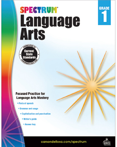 Spectrum Language Arts Workbook Grade 1